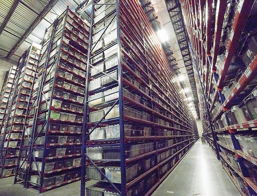 Racks in Warehouse