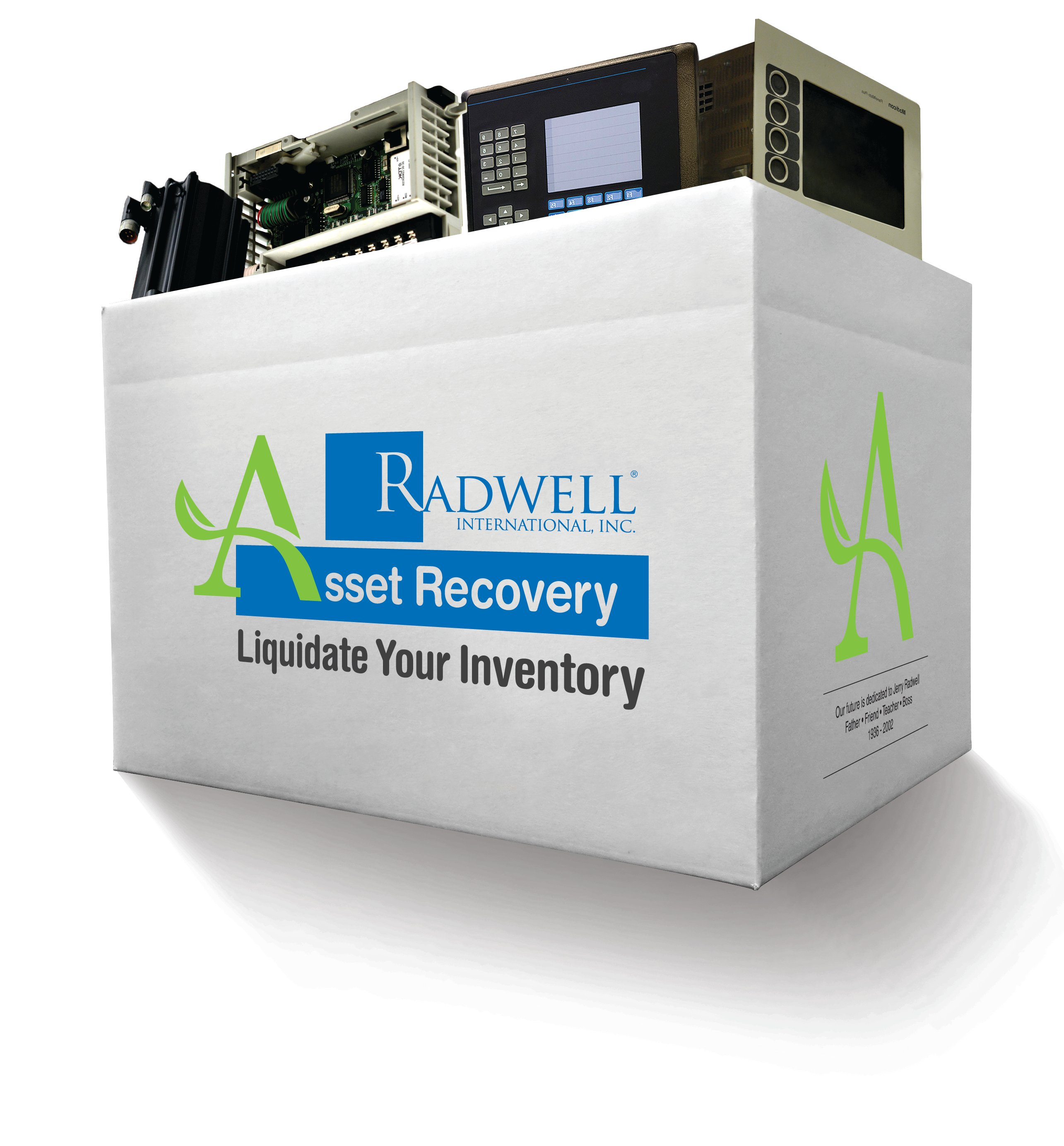 Radwell International AssetRecovery Box with Siemens circuit boards Allen Bradley PLCs ACDC Drives