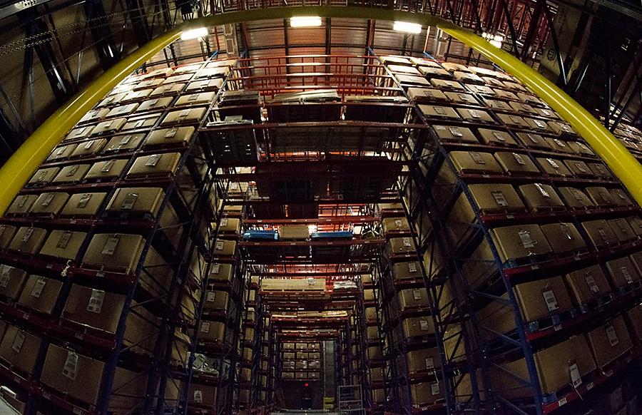 Racks in Back Warehouse at Radwell International