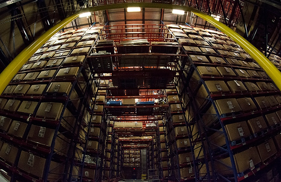 Racks in Back Warehouse at Radwell International