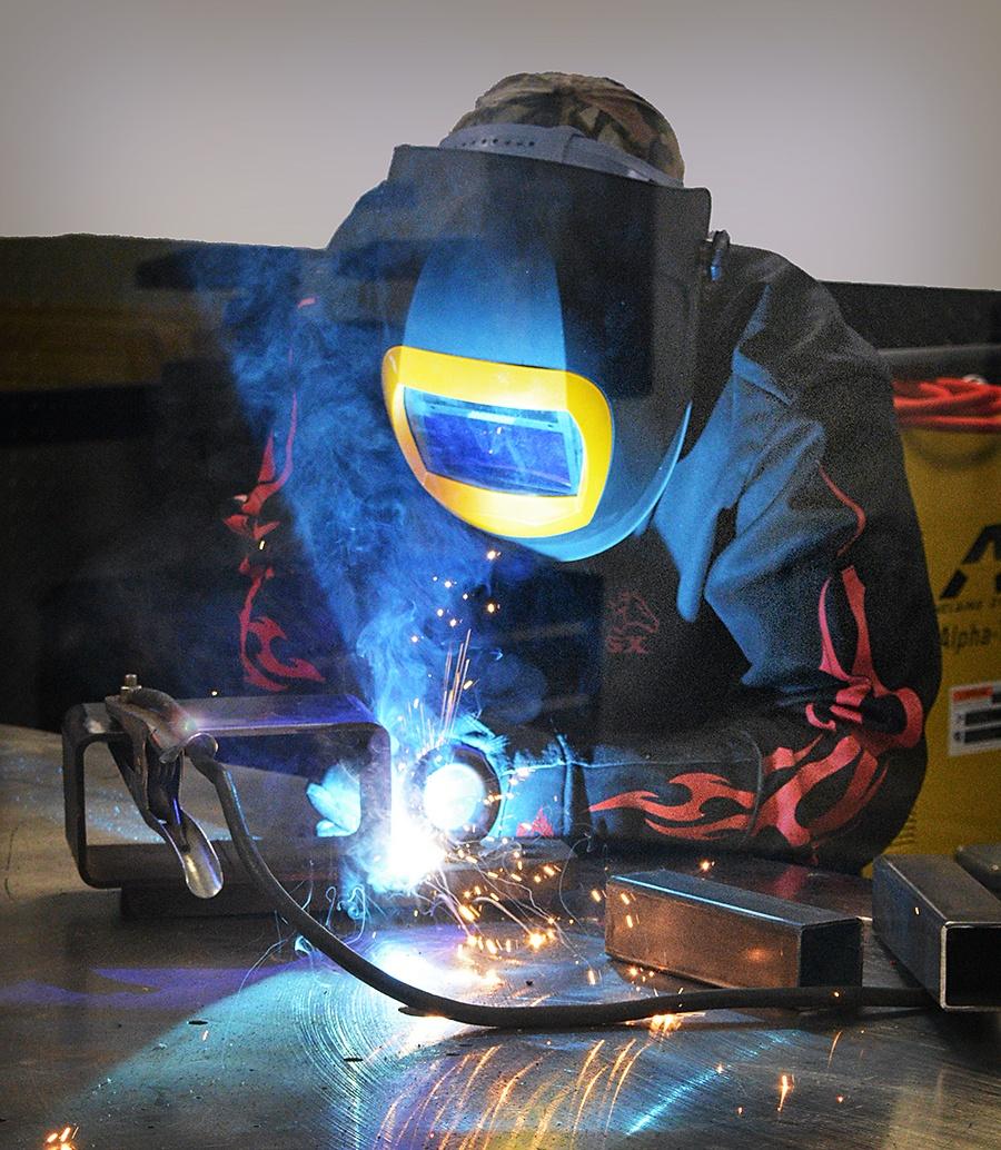 Employee working in Welding Room