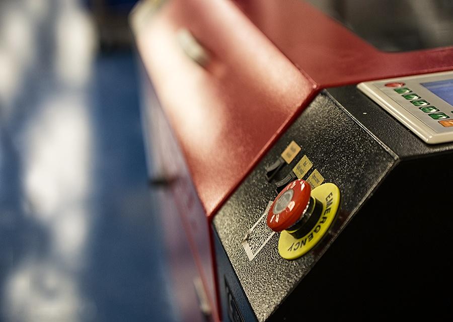 Laser Engraving Machine-side view