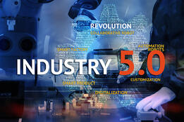 Industry 50 with graphic words web