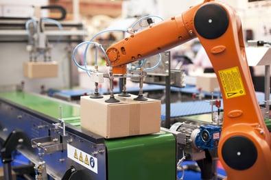 Orange Industrial Robot