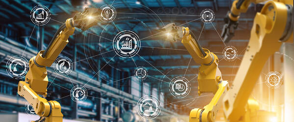 Robots Connected in a Smart Factory web