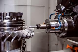 Working CNC machine