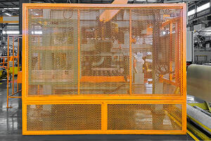 Machine with Barrier Guard Around It