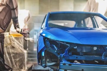 robot painting a car
