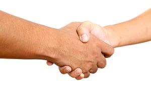 Parternship handshake