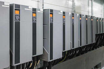 Variable Frequency Drives in a row